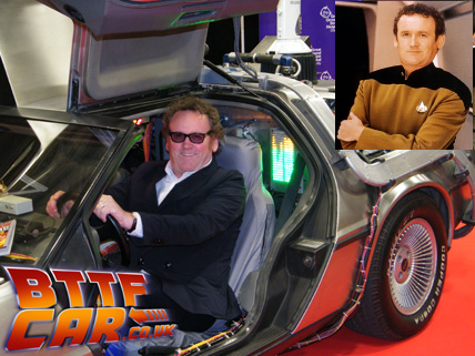 Colin Meaney celebrity guests in the BTTF DeLorean Hire