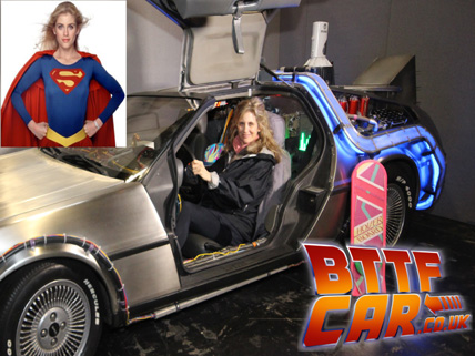 helen slater celebrity guests in the BTTF DeLorean Hire
