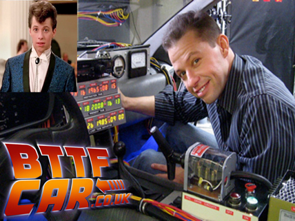 celebrity guests Jon Cryer in the BTTF DeLorean Hire