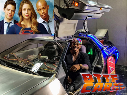 Mehcad Brooks celebrity guests in the BTTF DeLorean Hire
