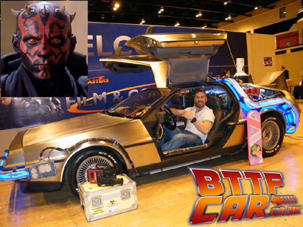 celebrity Guests Ray Park in the BTTF DeLOrean Hire