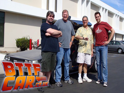 Robert Zemeckis original director with the BTTF DeLorean Time Machine