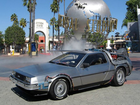 BTTF DeLorean Hire as used at Universal Studios Hollywood